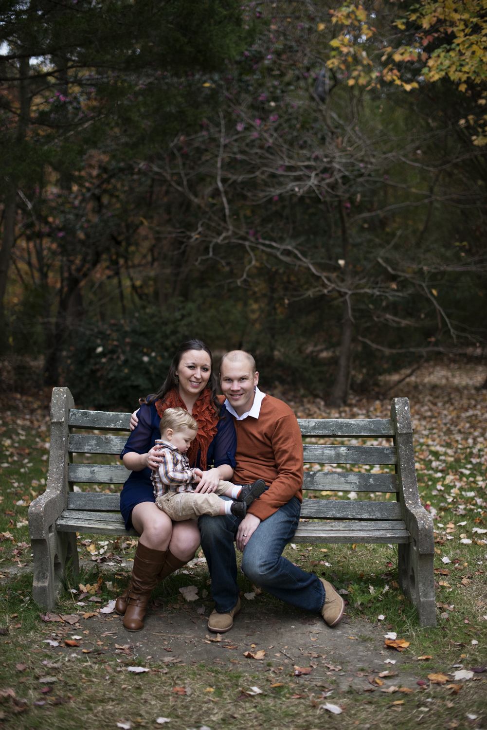 Orange and blue family picture outfit ideas