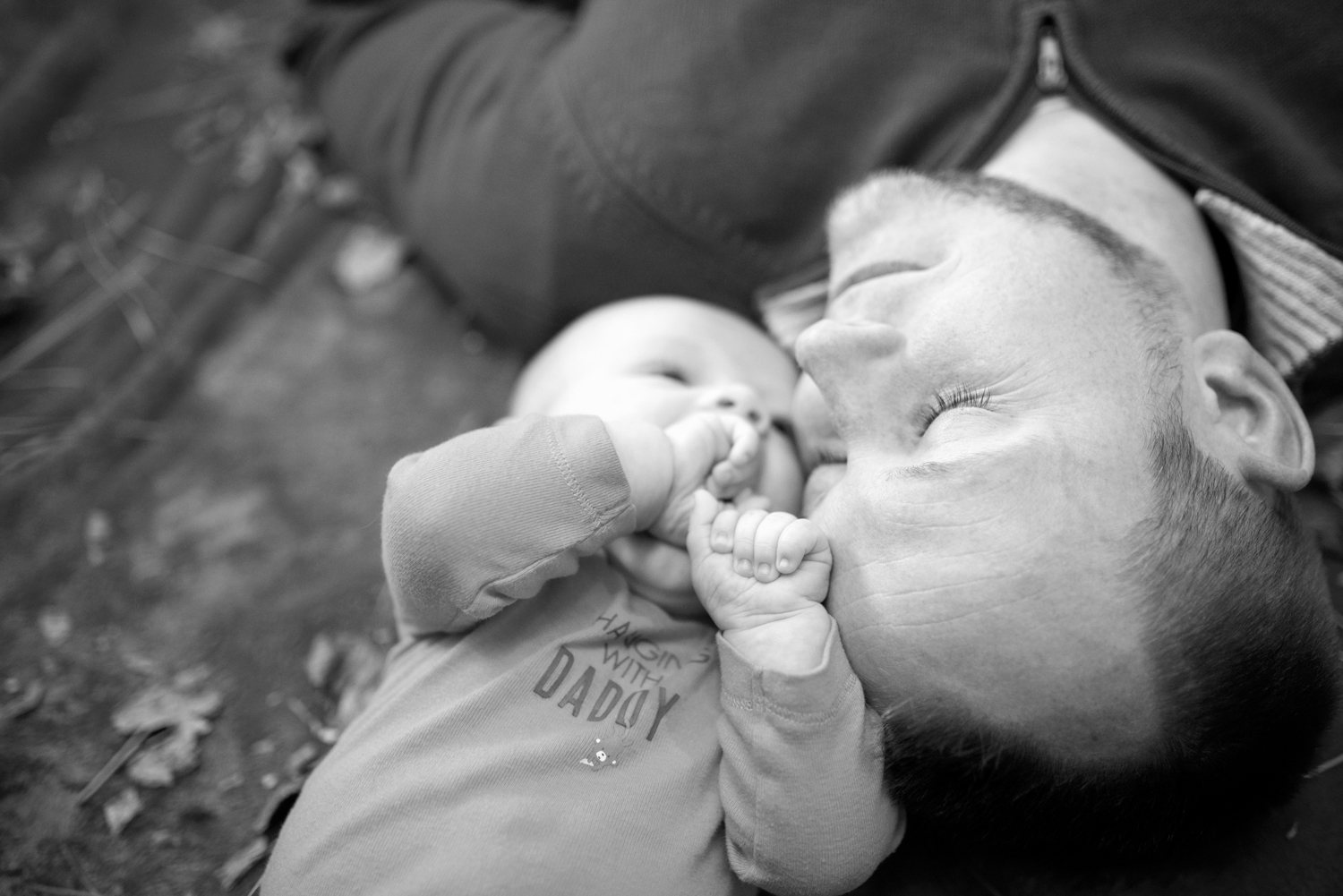 Family picture ideas for dad and his son (black and white)