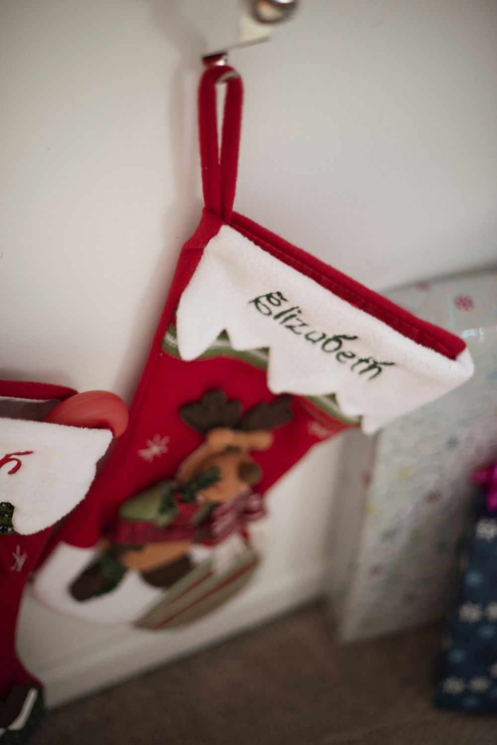 Newborn stocking for baby's first Christmas