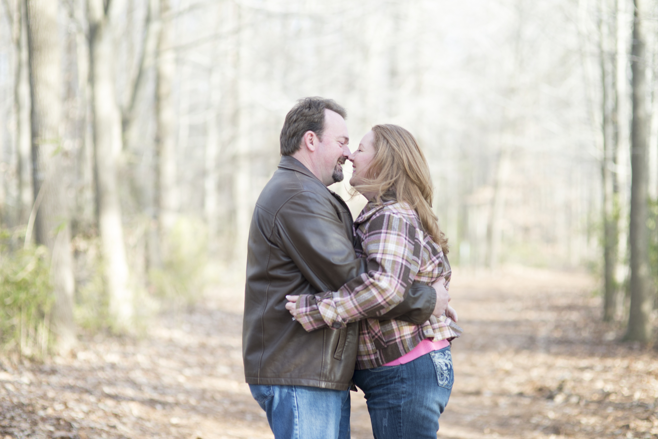 Romantic, intimate engagement session poses