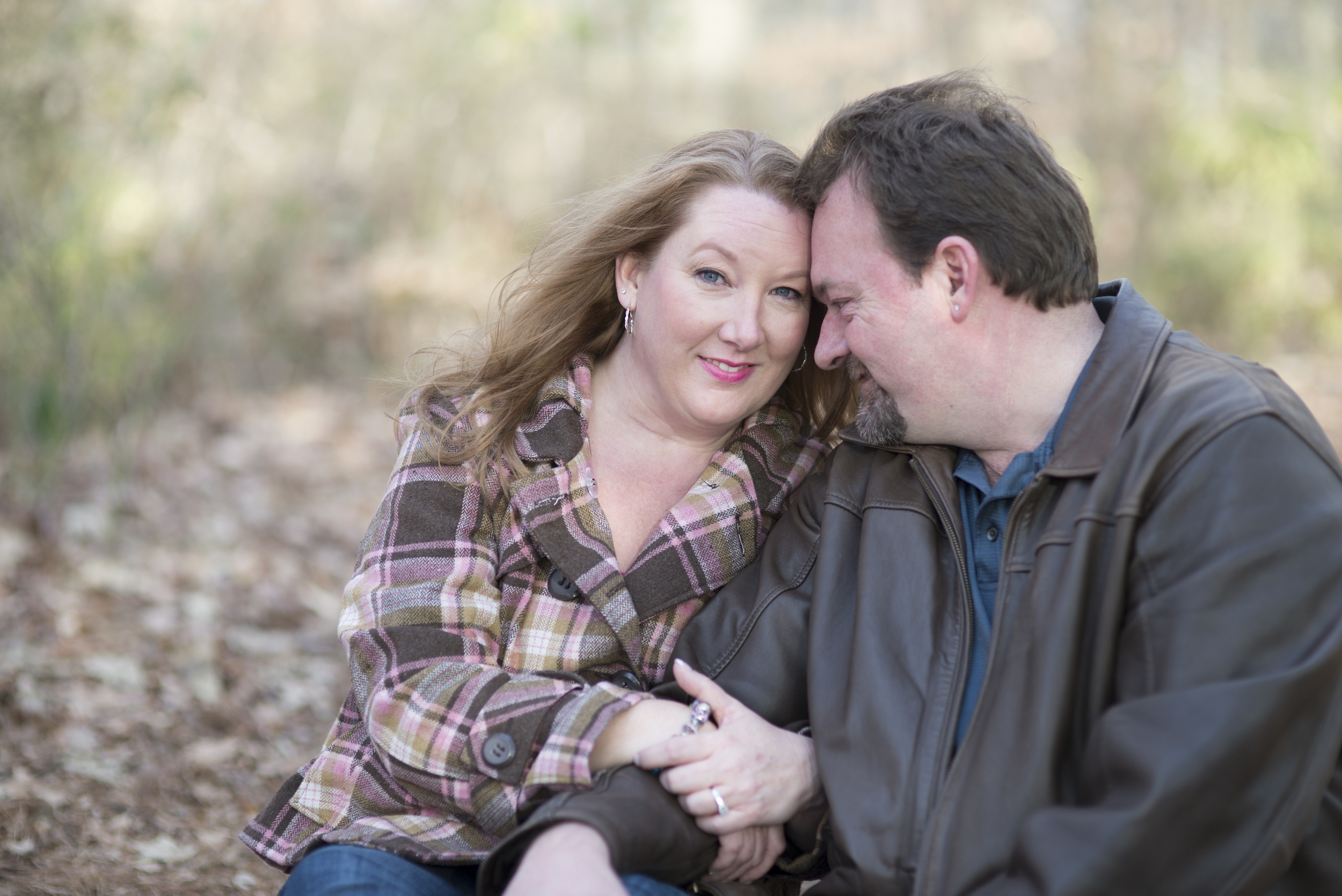 Winter engagement session in January