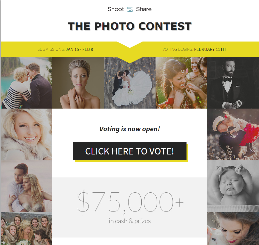 The annual Shoot & Share Photo Contest