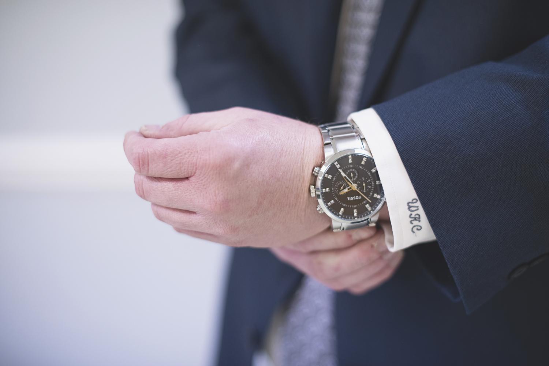 Men getting ready | Wedding watch detail shot