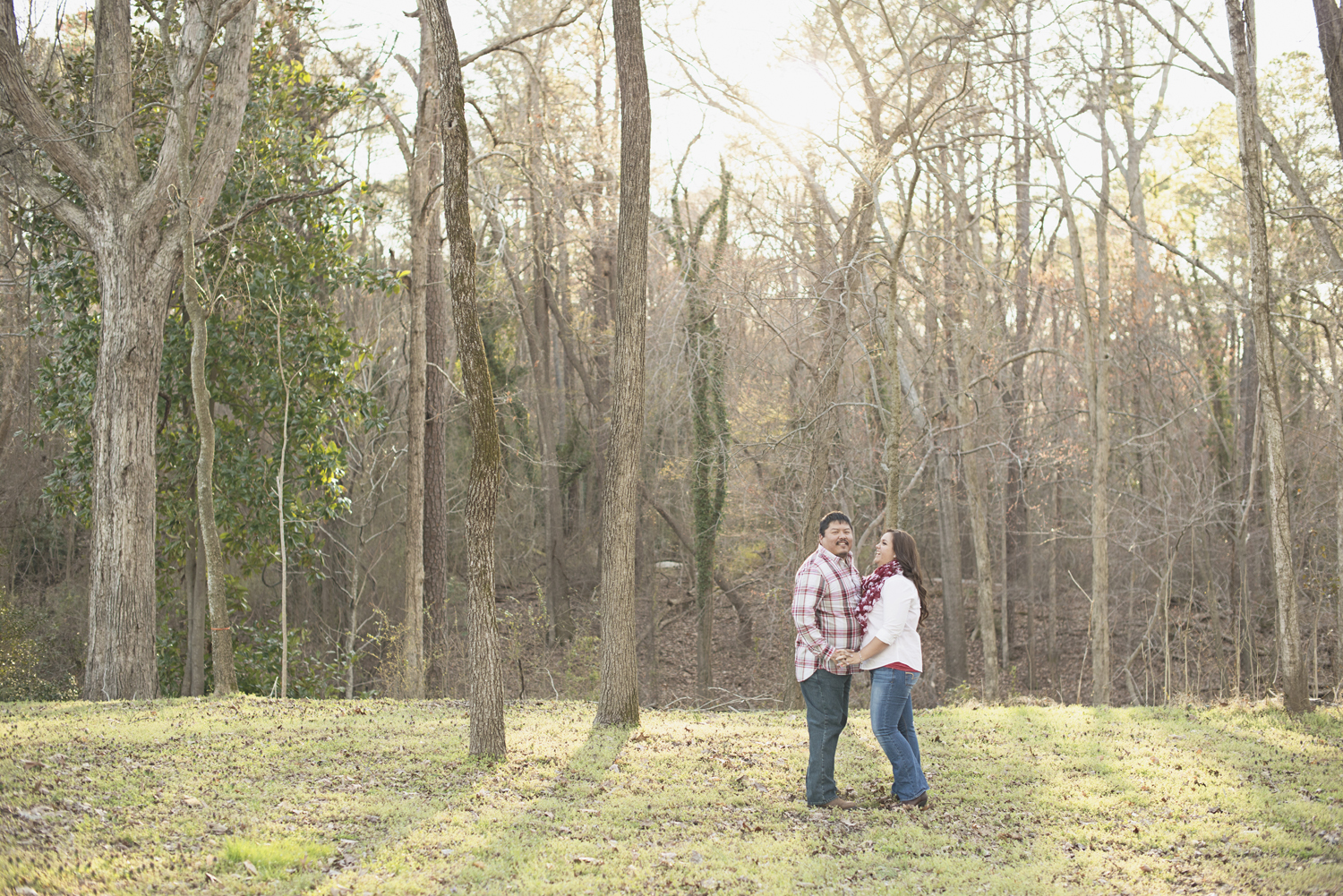 Romantic engagement session | Red plaid and jeans