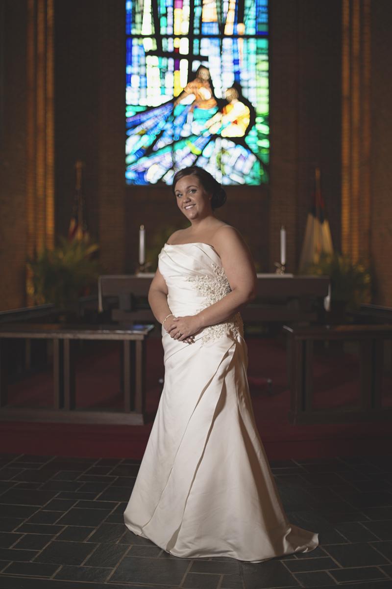 Iconic church bridal portraits