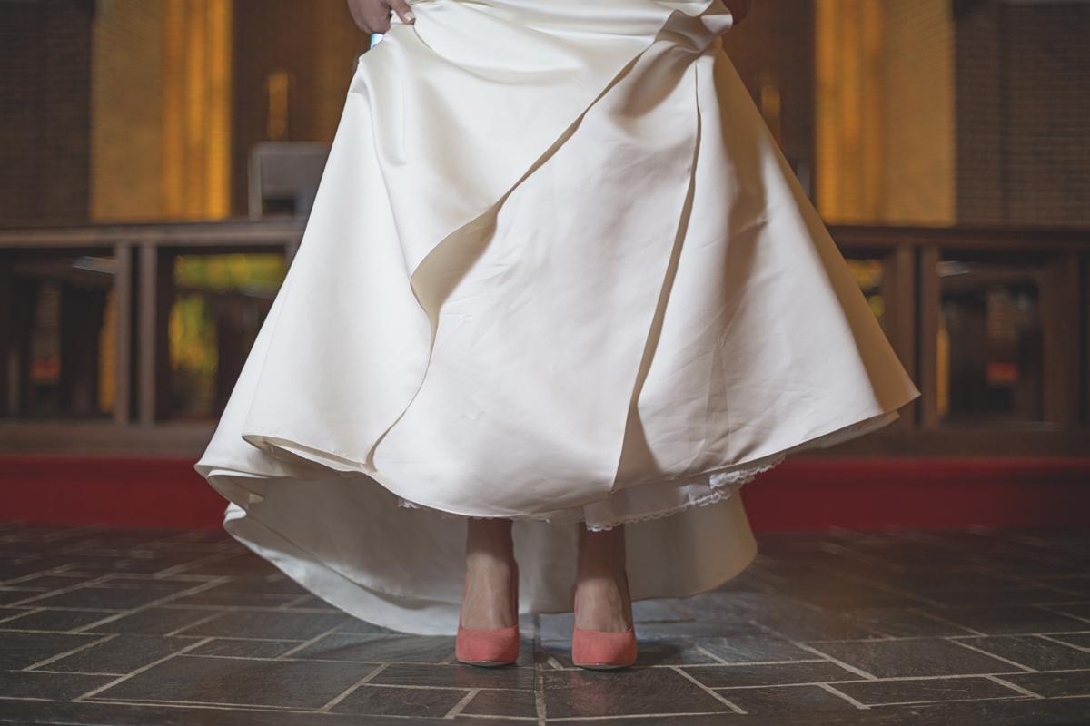 Madden Girl Wedding Shoes   Coral wedding shoes   Bridal portraits