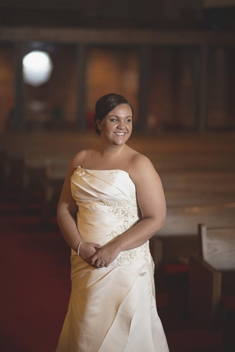 Iconic bridal portrait   Church bridal portrait