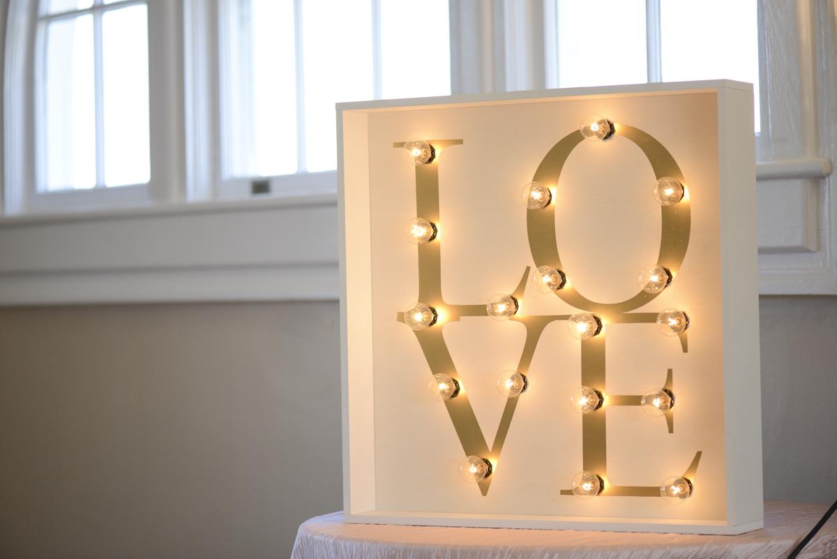 LED Lit Love Sign for Weddings