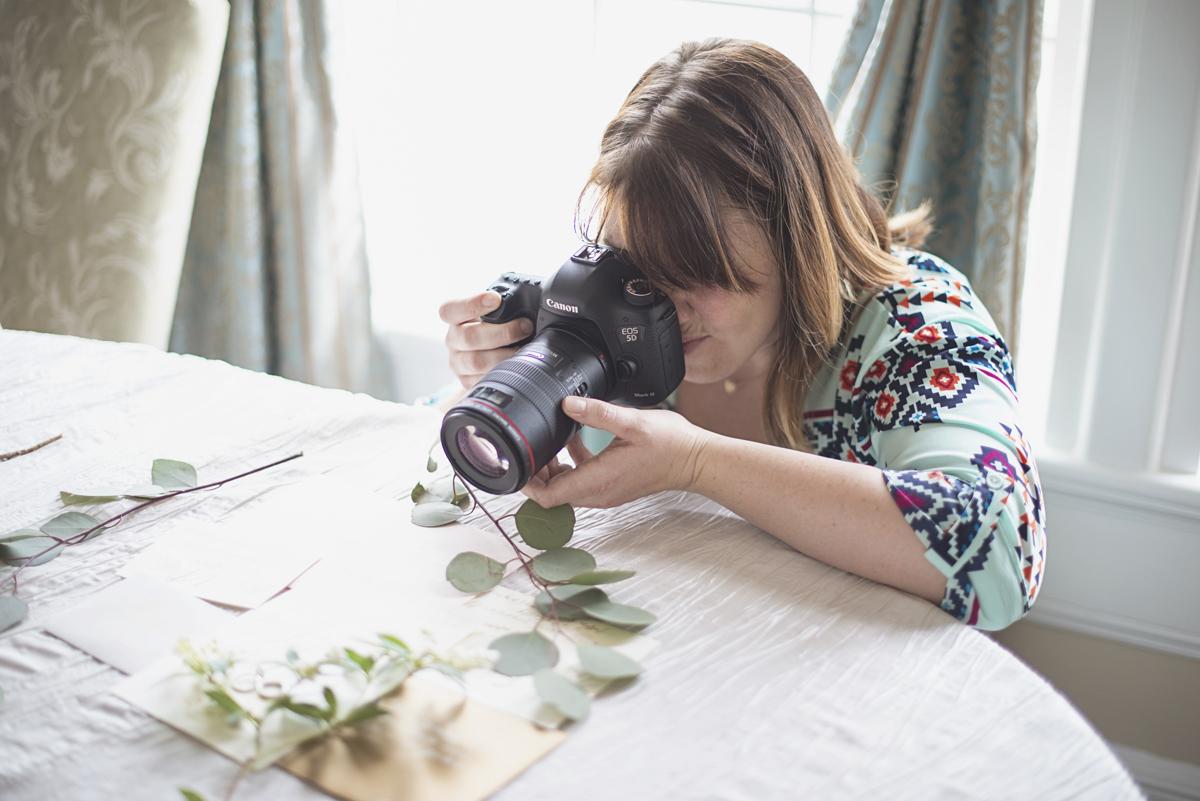 Photographer capturing bridal details | Macro ring shot