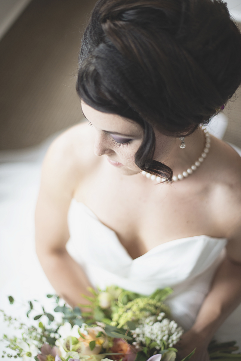 Soft, romantic bridal portrait