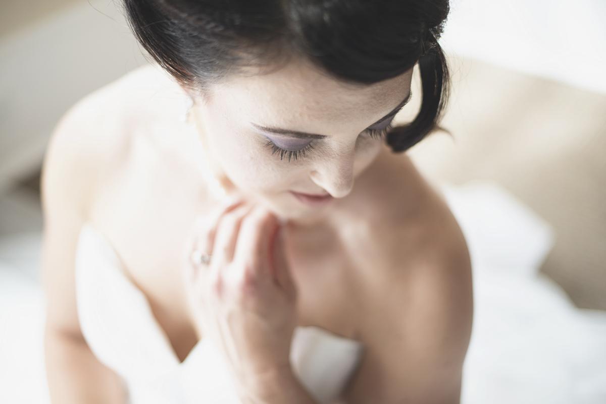 Soft, romantic bridal portrait