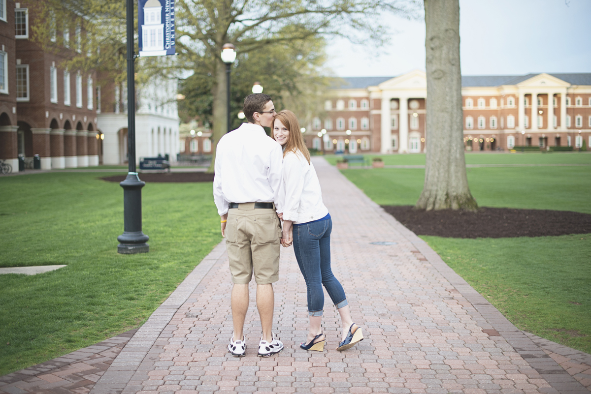 Engagement session walking poses | College campus