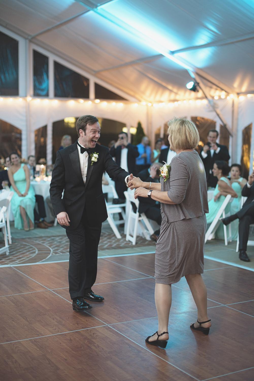 Inn at Warner Hall Wedding P  hotography | Reception guests dancing