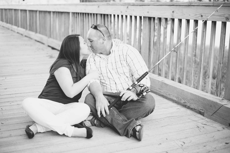 Windsor Castle Park Engagement Session in Smithfield, Virginia | Fishing pier