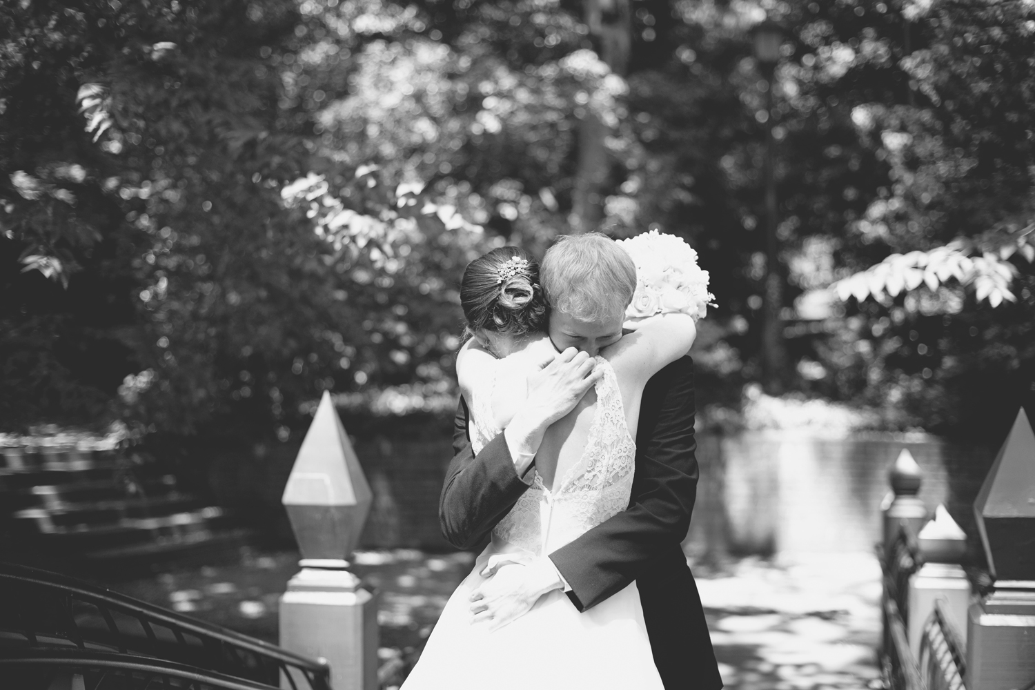 Crim Dell Bride at William and Mary Wedding |  First look bride & groom portraits