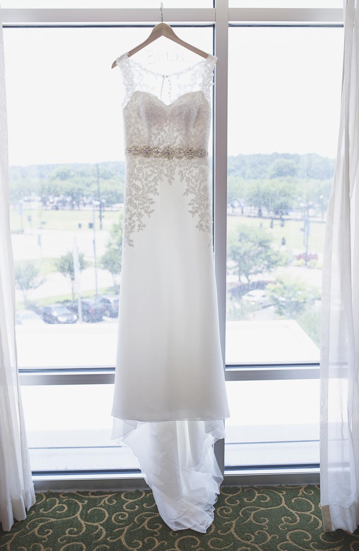 Langley Chapel Air Force Military Wedding | Hampton, Virginia | Wedding dress
