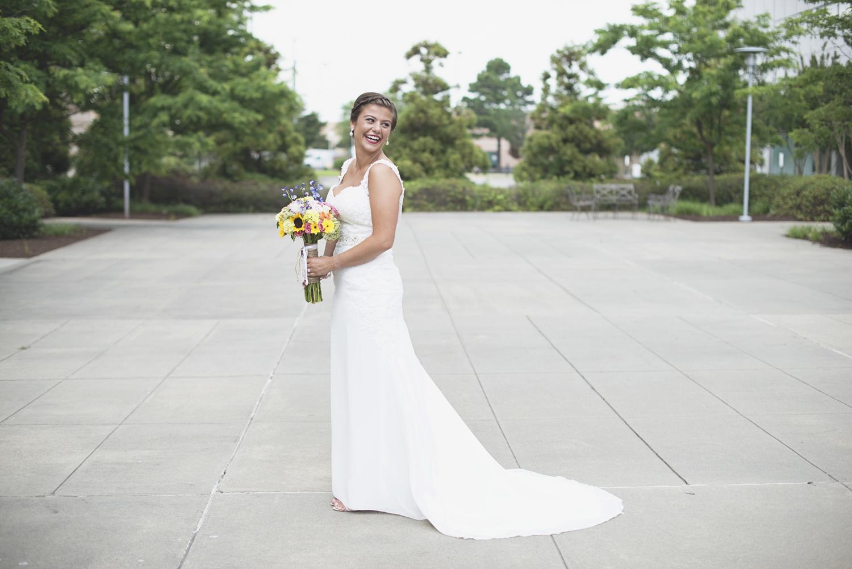 Langley Chapel Air Force Military Wedding | Hampton, Virginia | Bridal portrait