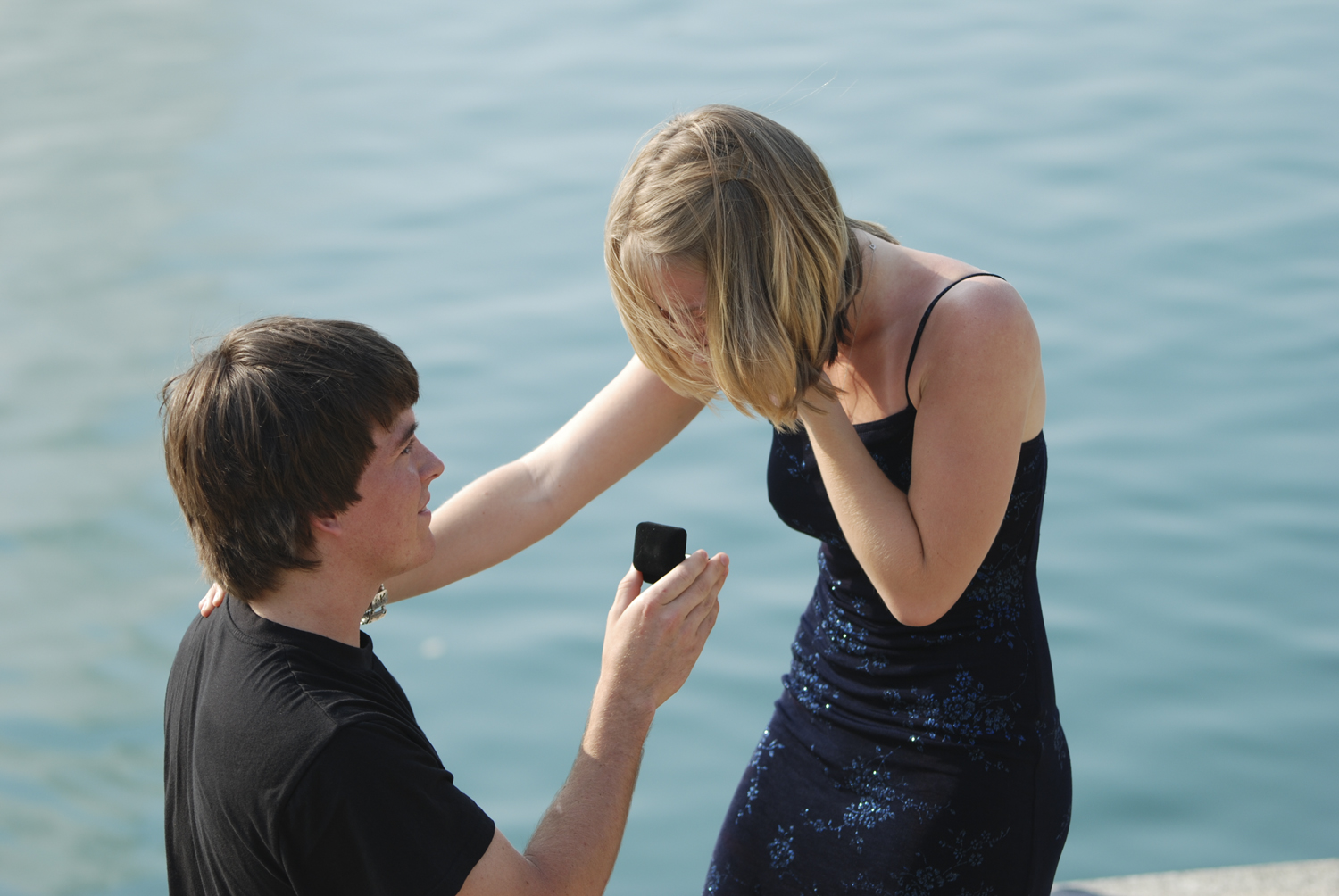 Engagement Proposal Pictures | City Center at Oyster Point in Newport News, Virginia