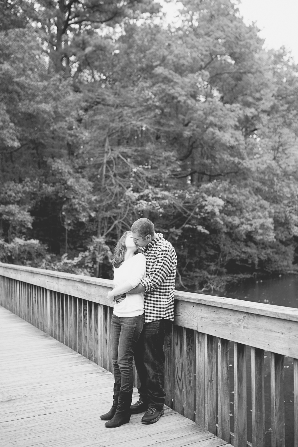 Newport News Engagement Session | Colorful fall leaves engagement