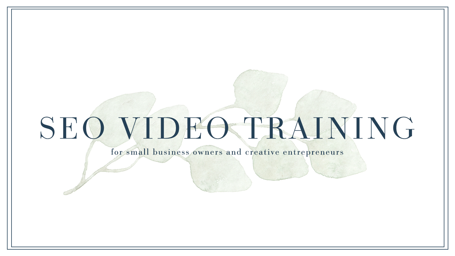 SEO-video-training