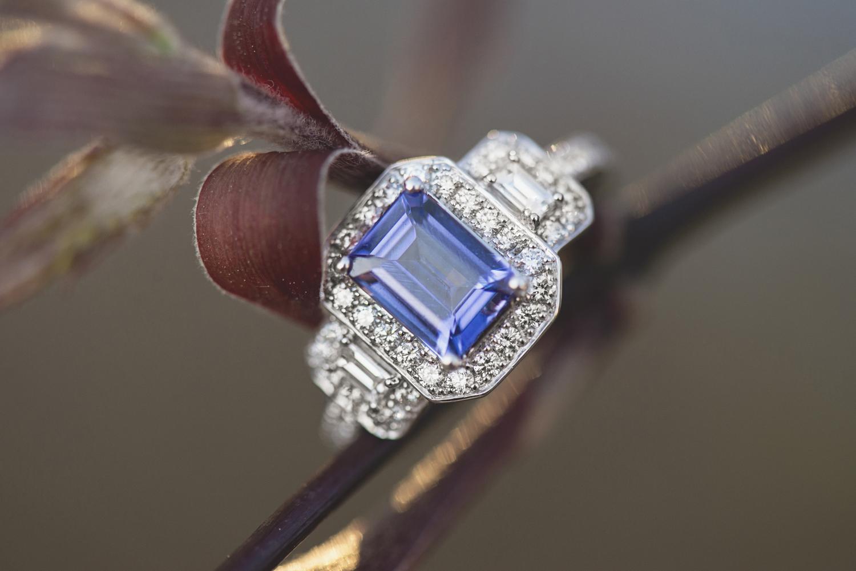 Blue sapphire engagement ring   Unique engagement ring ideas
