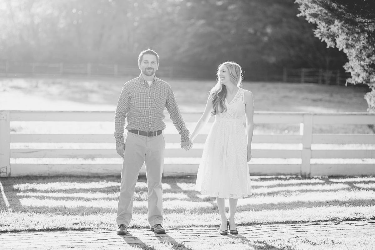 Elegant sunrise engagement session | Williamsburg engagement portraits
