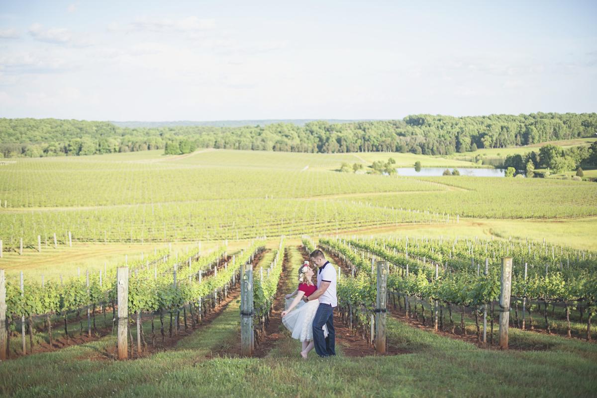 Albemarle Estate at Trump Winery Engagement Session | Winery Spring Engagement Session