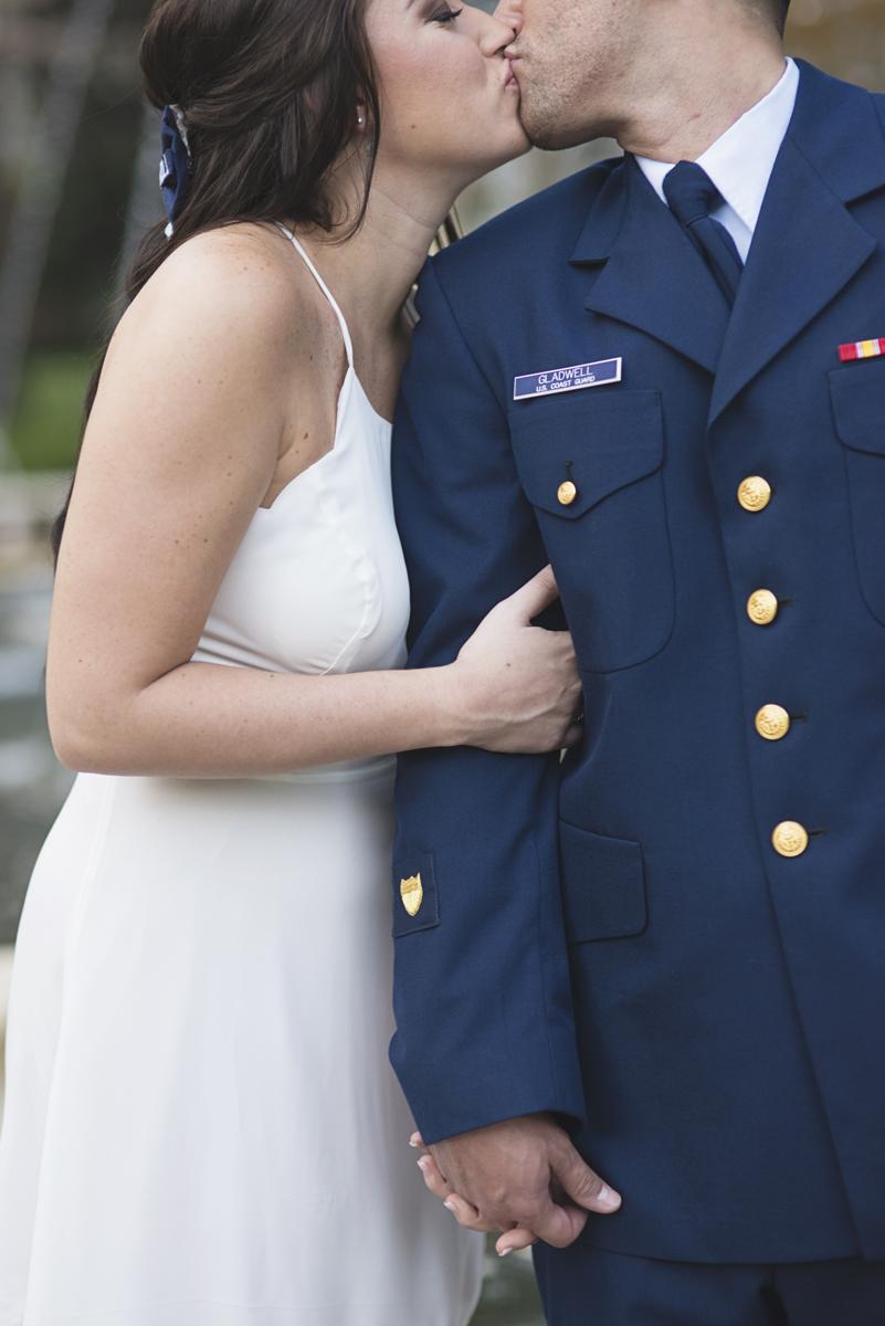 Coast Guard Military High Fashion Engagement Session