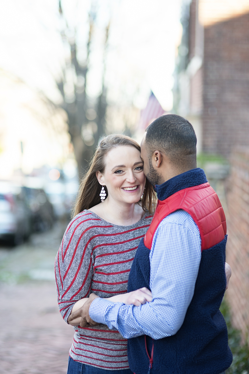 Old Town Alexandria Winter Engagement Session