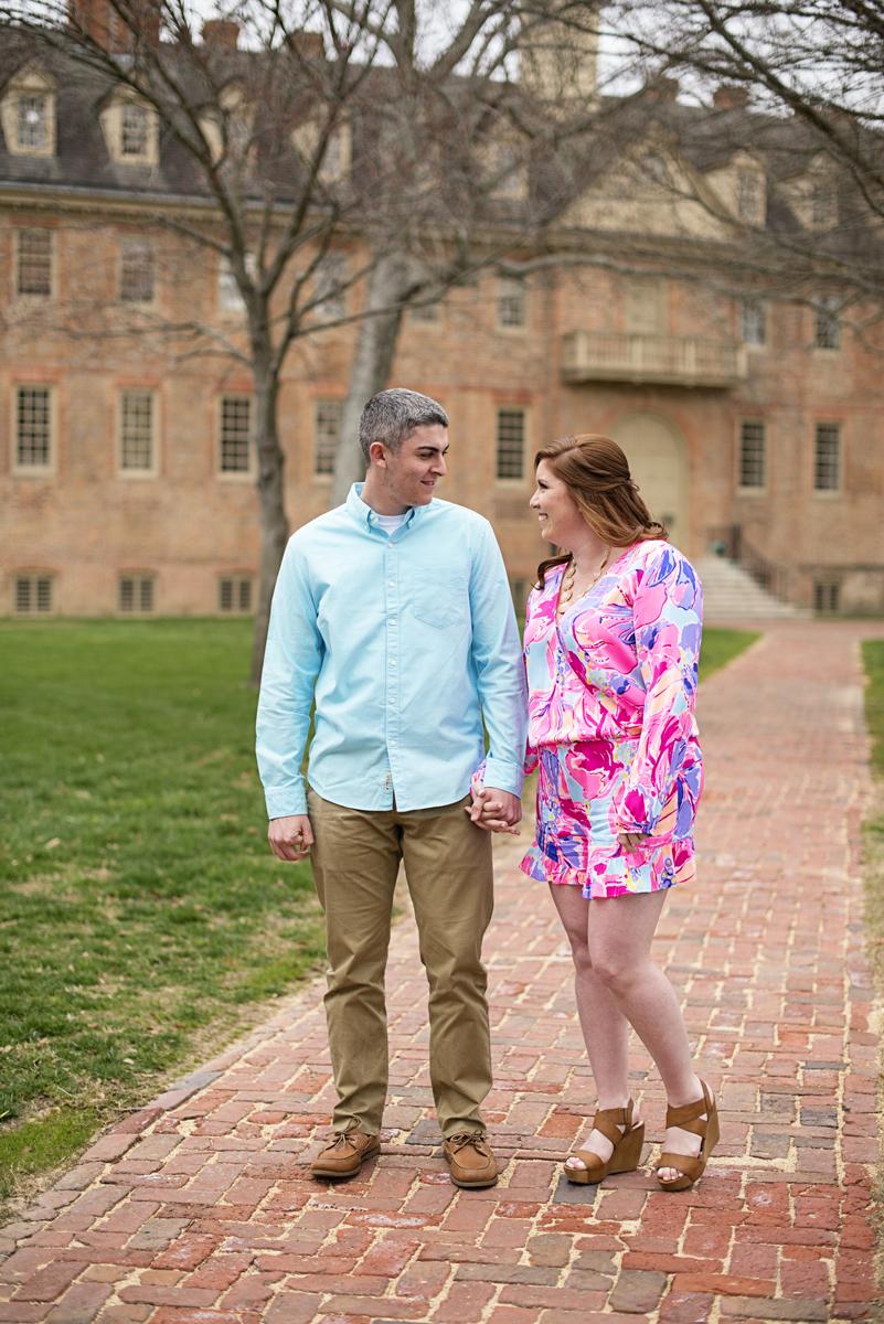 Spring Colonial Williamsburg Engagement Session | Williamsburg Wedding Photographer