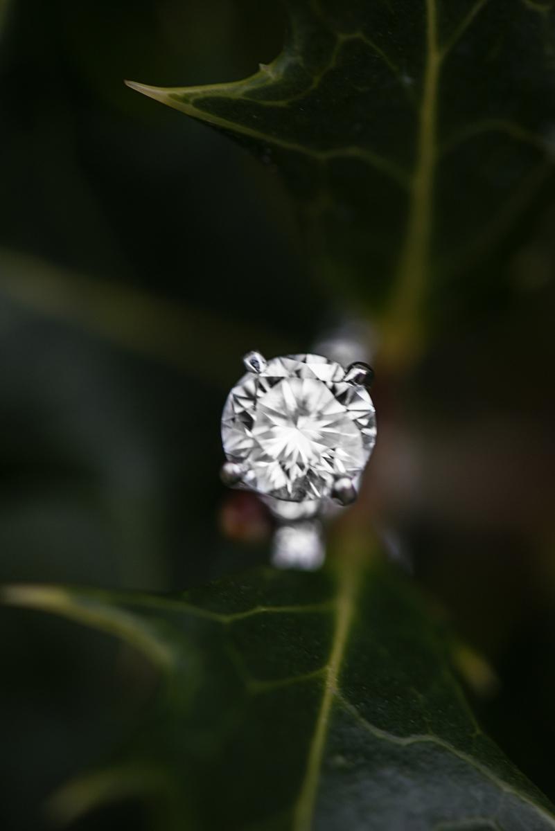 Greenery Engagement Ring Shot