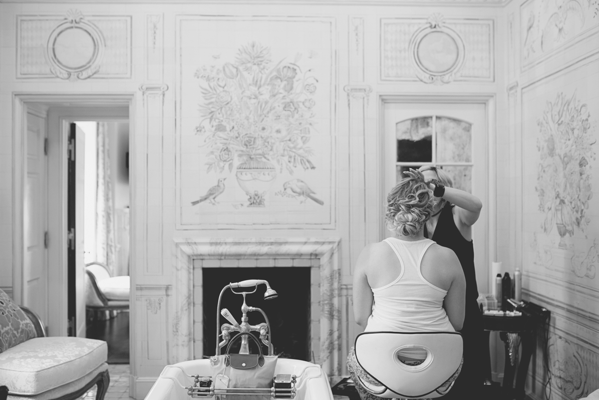 Albemarle Estate at Trump Winery Wedding   Bride Getting Ready