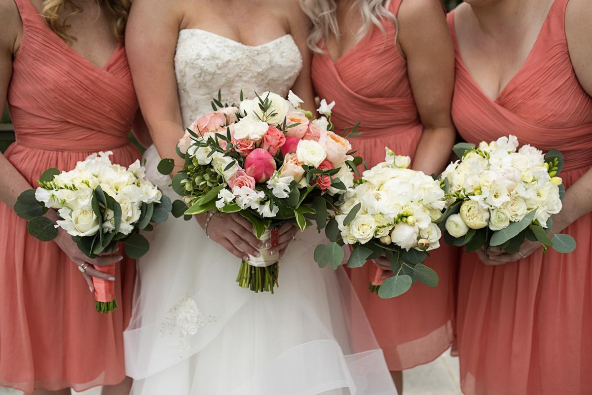 Albemarle Estate at Trump Winery Wedding   White, Blush, and Green Bridal Bouquets