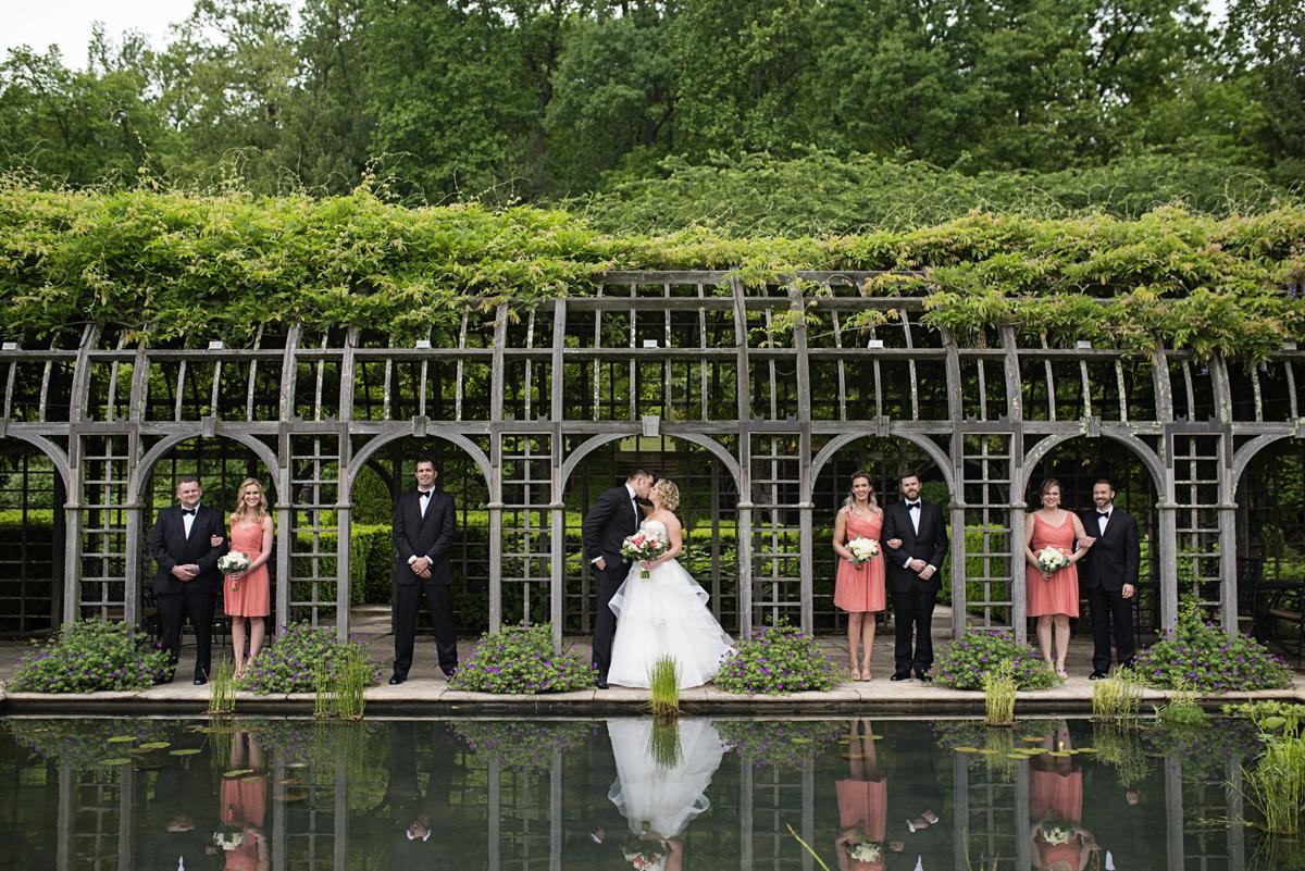 Albemarle Estate at Trump Winery Wedding   Elegant Bridal Party Portraits