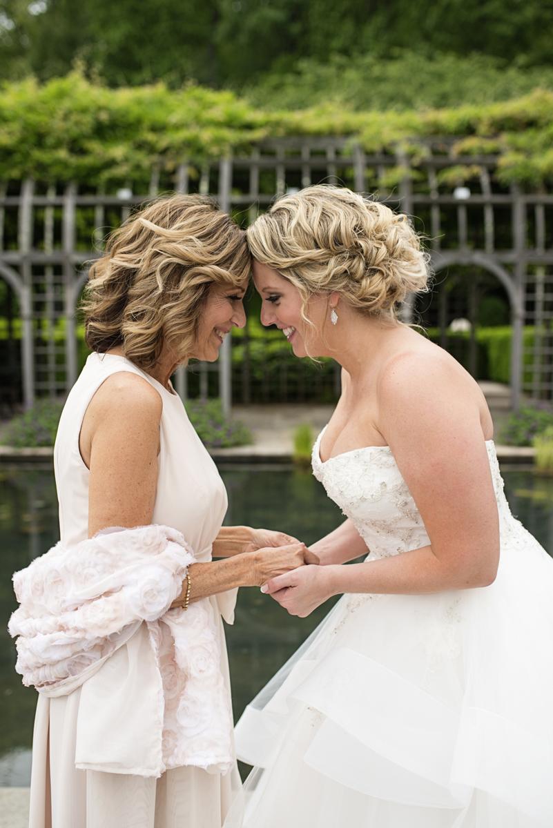 Albemarle Estate at Trump Winery Wedding   Bride with mom