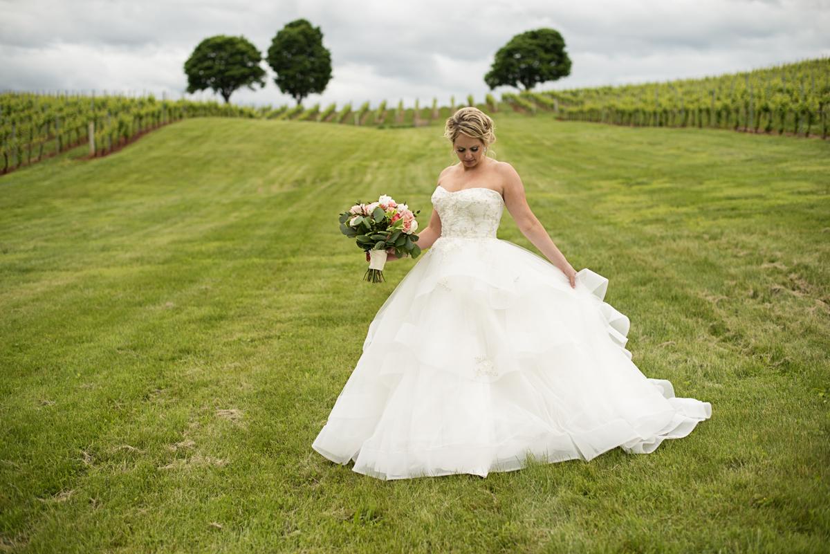 Albemarle Estate at Trump Winery Wedding   Vineyard Bridal Portrait