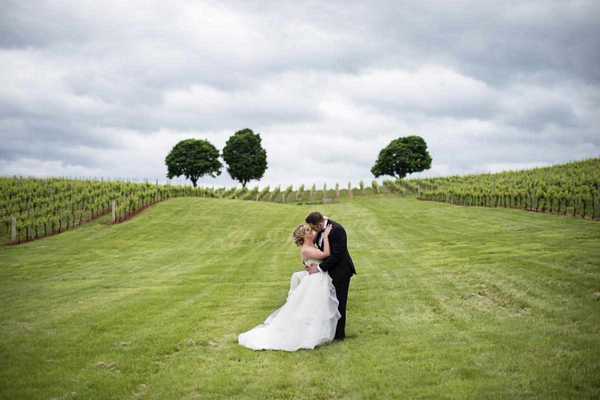 Albemarle Estate at Trump Winery Wedding   Bride and Groom Vineyard Portraits