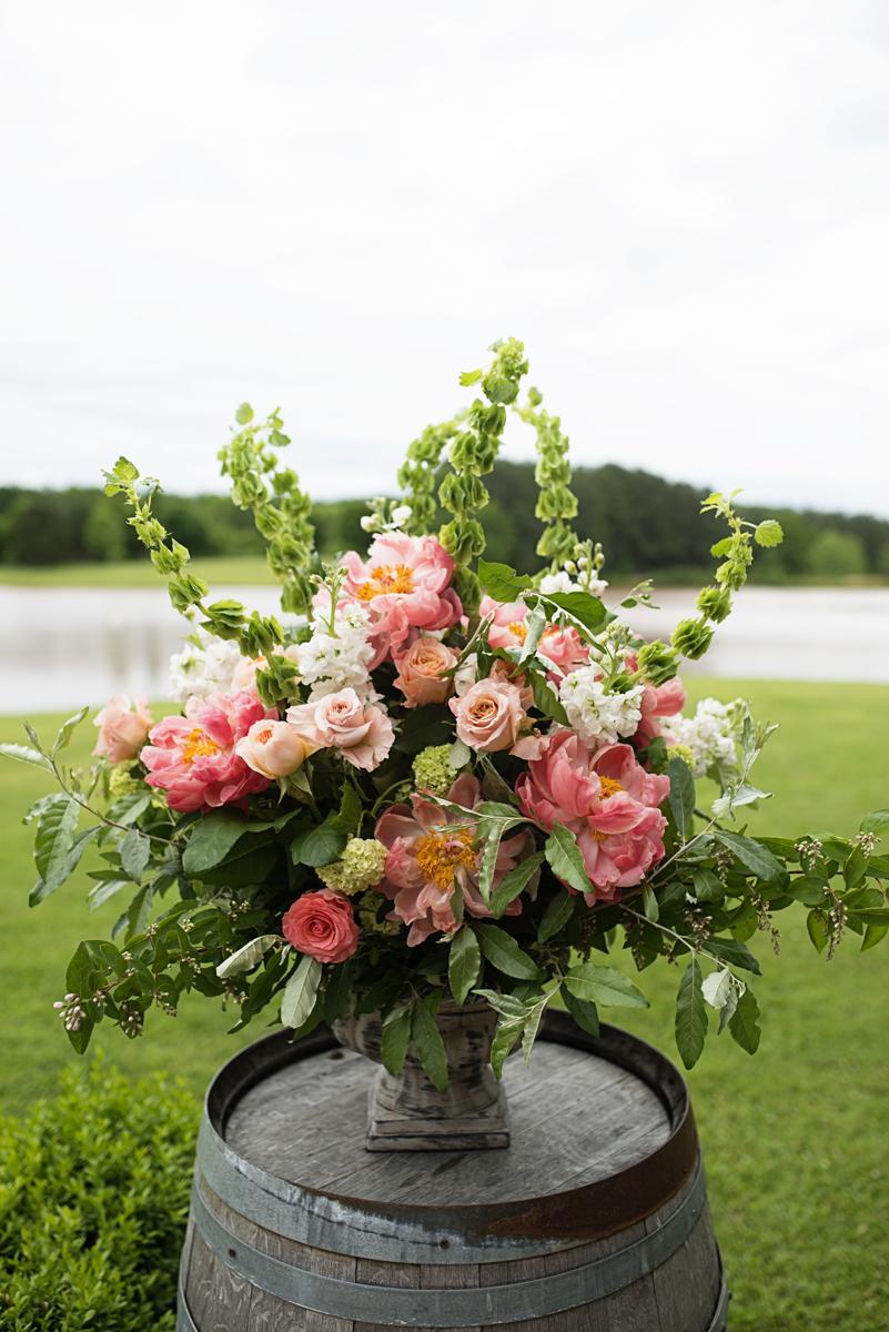 Albemarle Estate at Trump Winery Wedding   Wedding Ceremony Floral Design