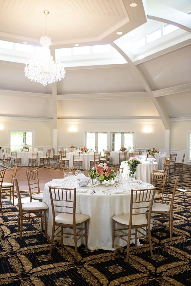Albemarle Estate at Trump Winery Wedding   Elegant Gold and White Wedding Reception