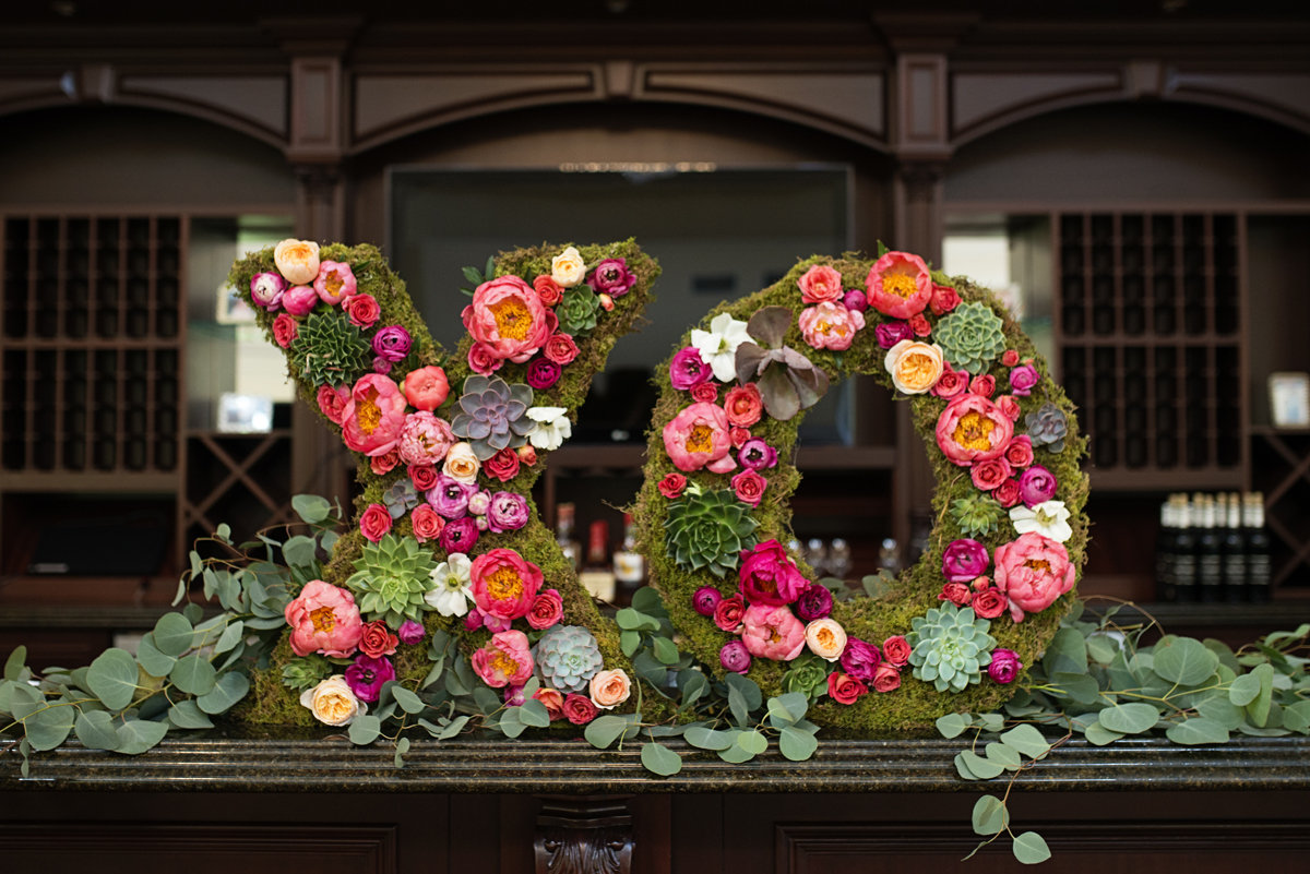 Albemarle Estate at Trump Winery Wedding   Flower and Moss Covered XO