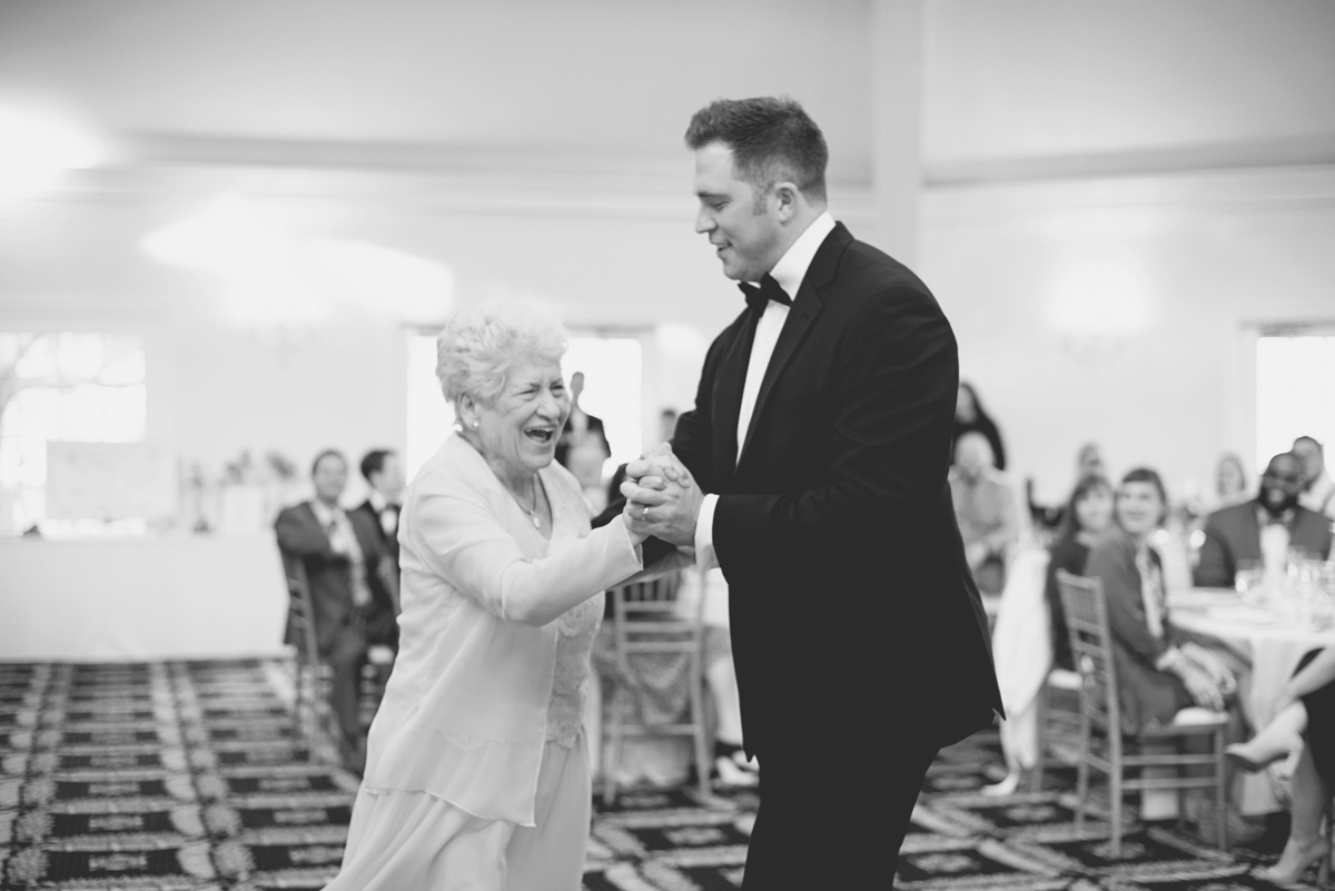 Albemarle Estate at Trump Winery Wedding   Groom and Grandma First Dance