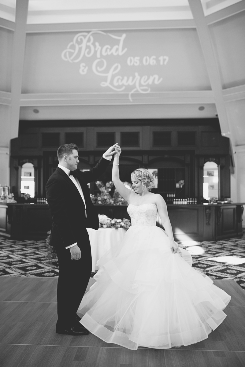 Albemarle Estate at Trump Winery Wedding   Bride and Groom Custom Name Bogo Light