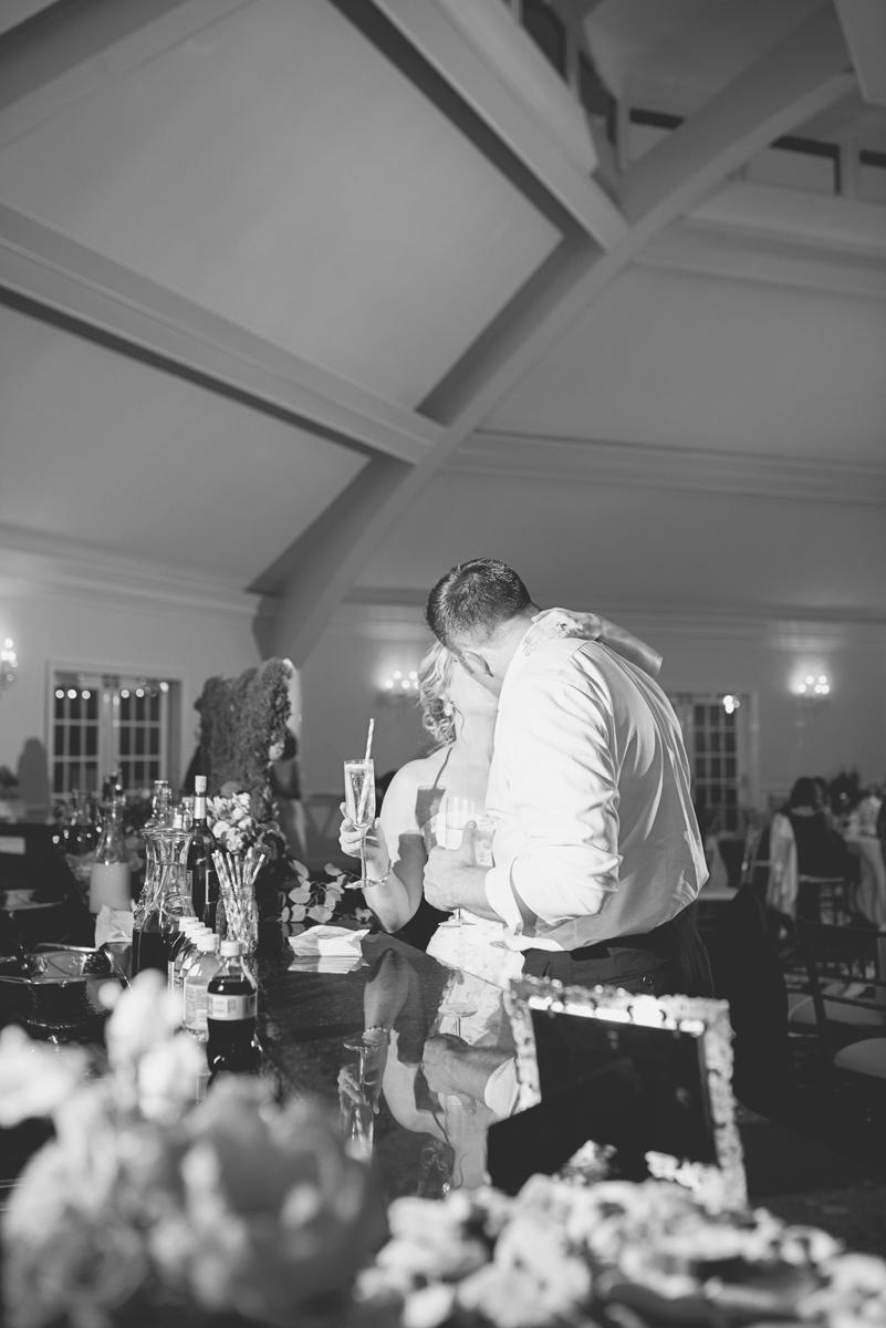 Albemarle Estate at Trump Winery Wedding   Bride and Groom Reception Kiss