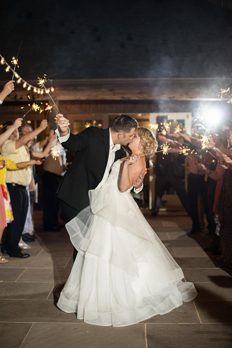 Albemarle Estate at Trump Winery Wedding   Bride and Groom Sparkler Exit
