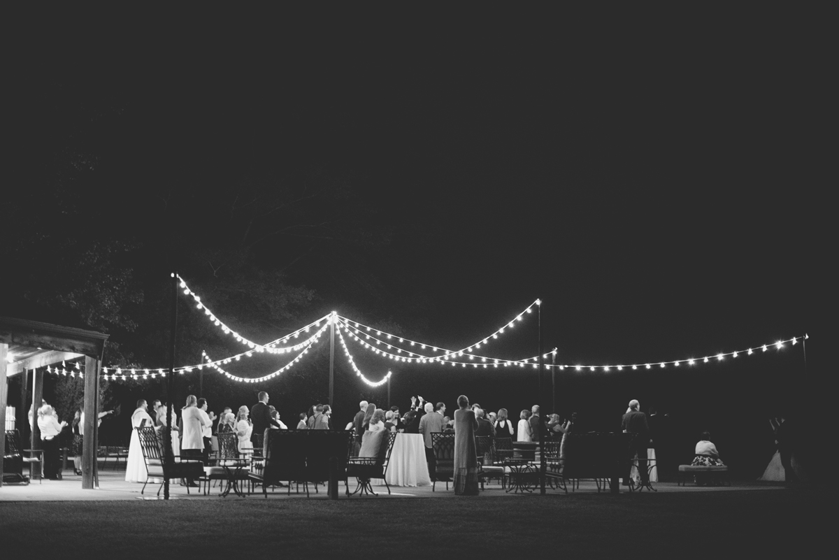 Albemarle Estate at Trump Winery Wedding   Outdoor starlit wedding reception