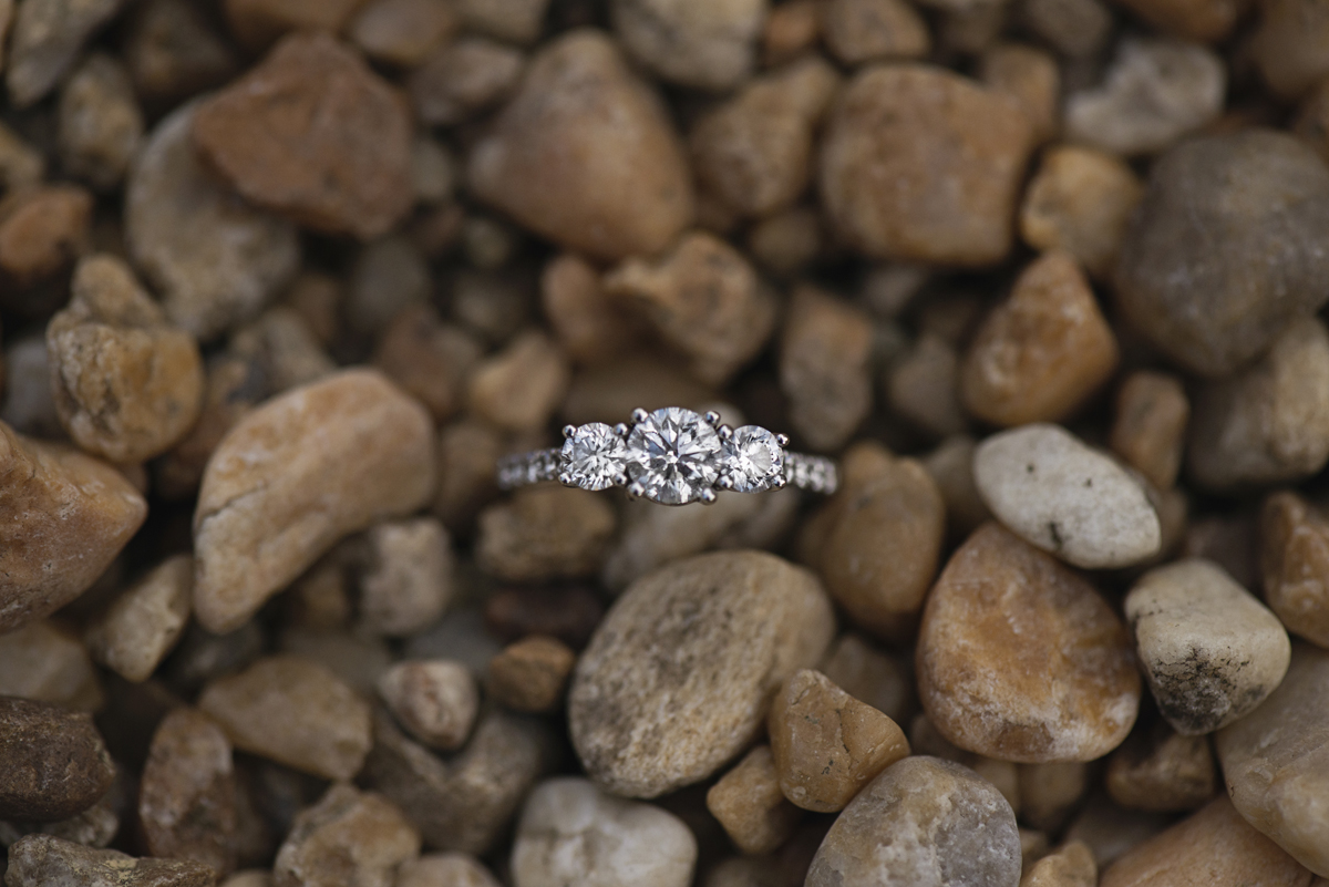 Ring Shot on Gravel Rocks