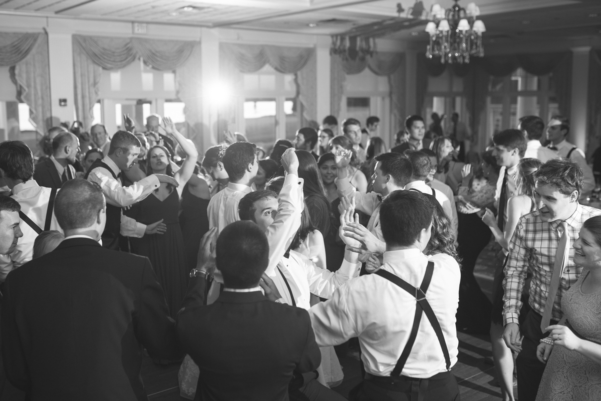 Emerald Green Classic Country Club Wedding | Wedding Reception Dancing