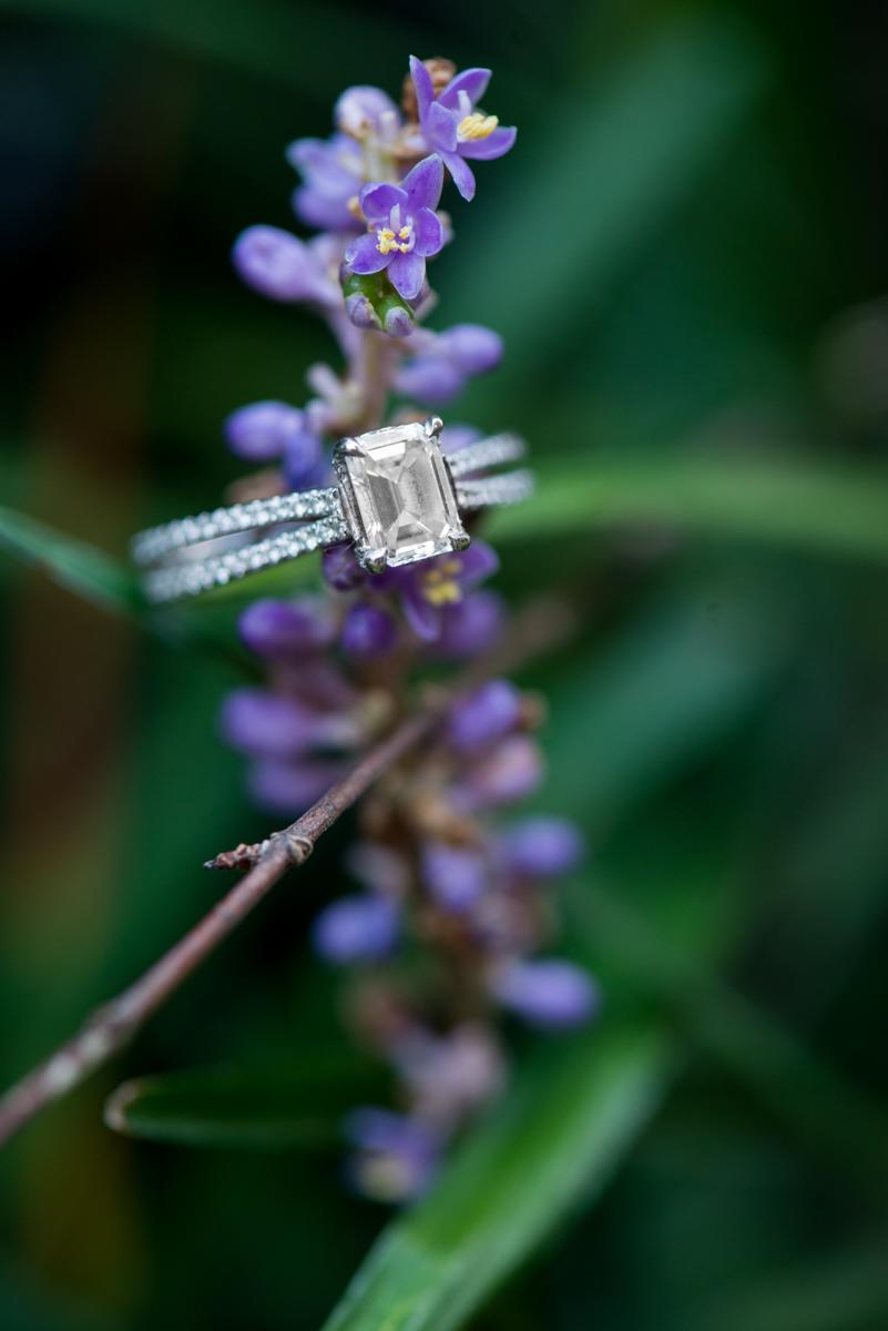 Lavendar Engagement Ring Shot