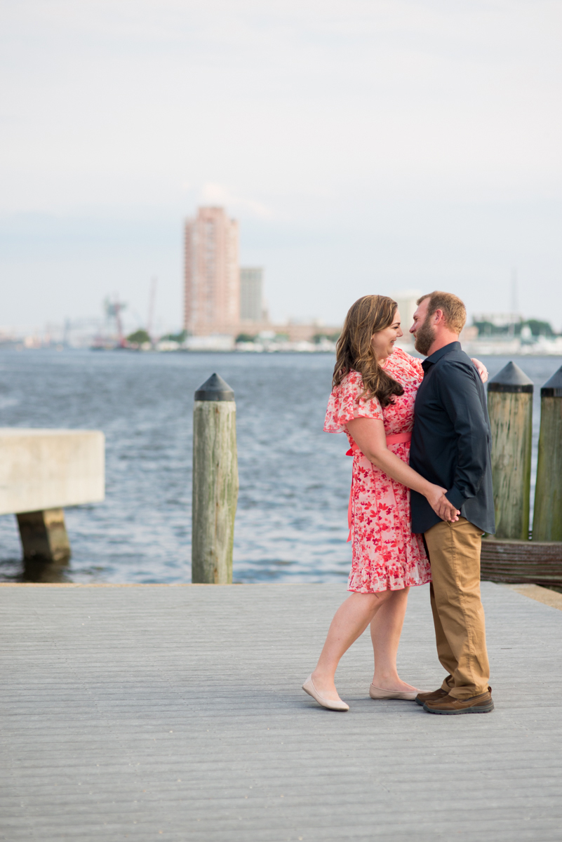 Downtown Norfolk Summer Engagement Session