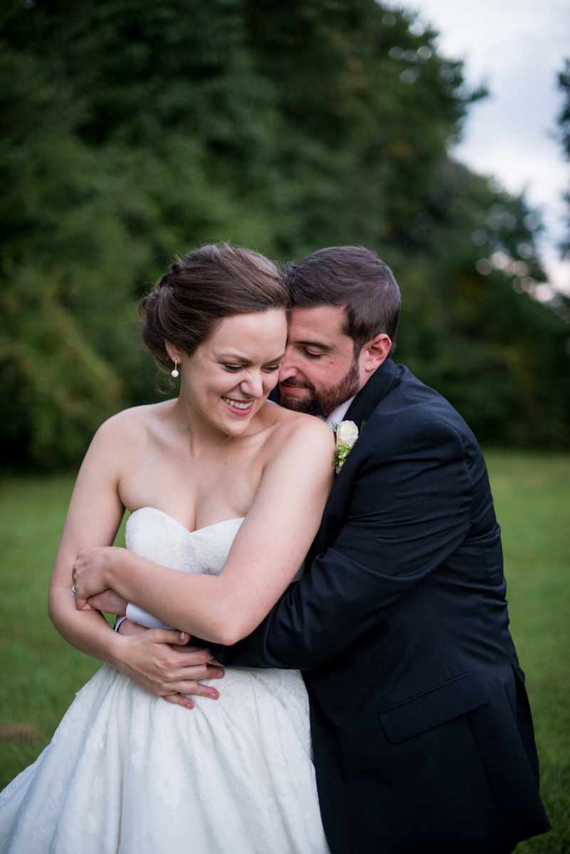 Sparkly Gold and White Fall Wedding | Bride + Groom Sunset Portraits
